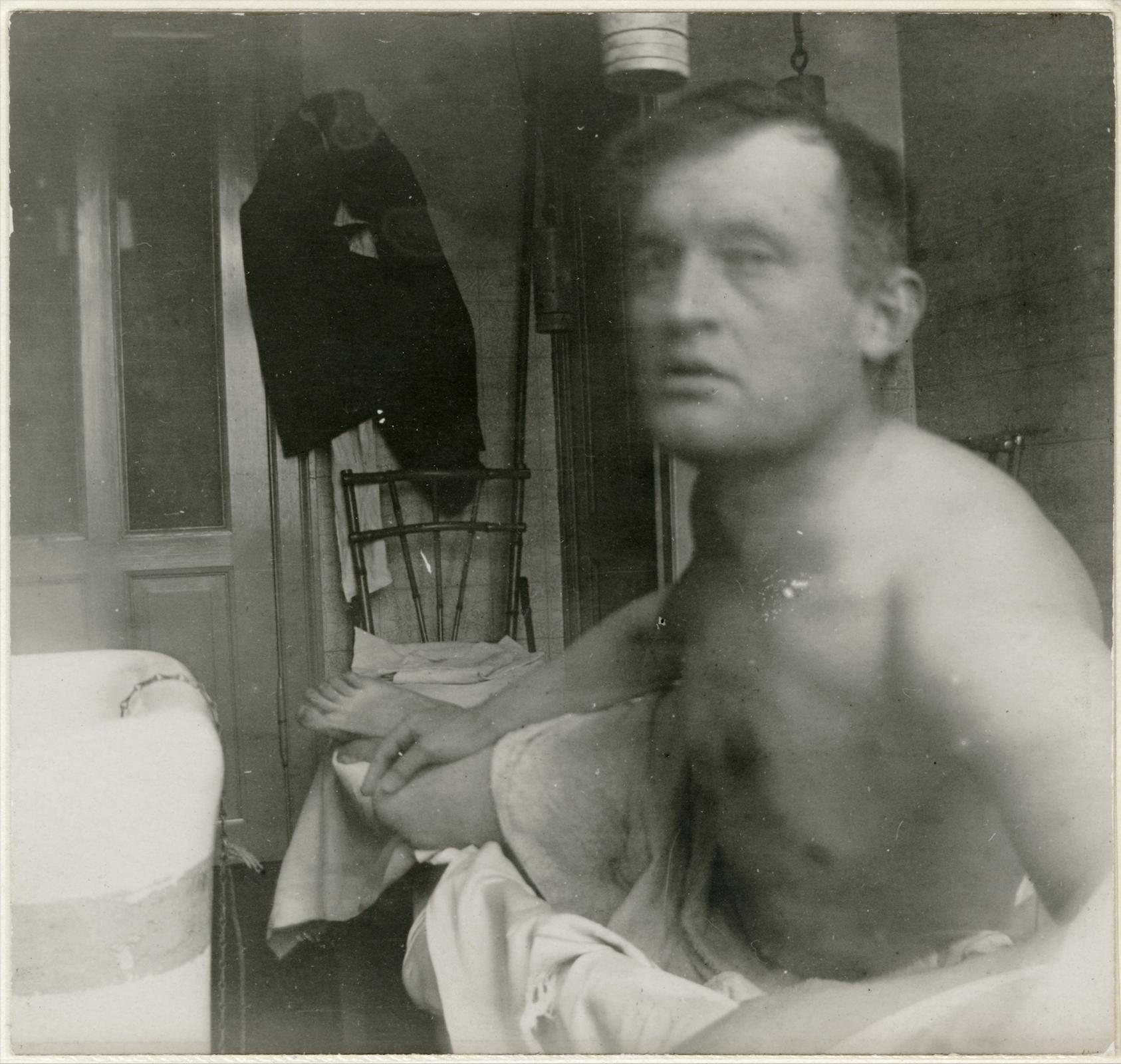 "Edvard Munch - Self-Portrait ""à la Marat"" (1908-09)"